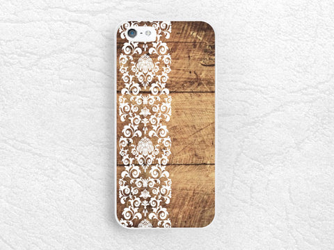 Vintage lace floral Wood print Phone Case for iPhone, Sony z1 z3 compact, LG g3 g2 nexus 6, HTC one m7 m8, Moto g Moto x, floral fabric -G12