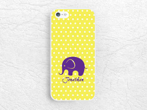 Polka Dots Custom name Phone Case for iPhone 6, Moto x Moto g, LG G3 G2 Nexus 5, Monogram Case elephant Phone Cover with personalized name