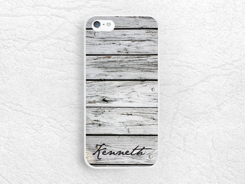 Personalized grey wood print Phone Case for iPhone 6 5 4, Sony z1 z3 compact, LG g2 g3 nexus 6, HTC one m7 m8, wood pattern with custom name