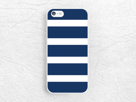 Navy blue colorful Striped Phone Case for iPhone 6 5 4, Sony z1 z2 z3 compact, LG g2 g3 nexus 6, HTC one m7 m8, Moto x Moto g, SamsungS4 -P5