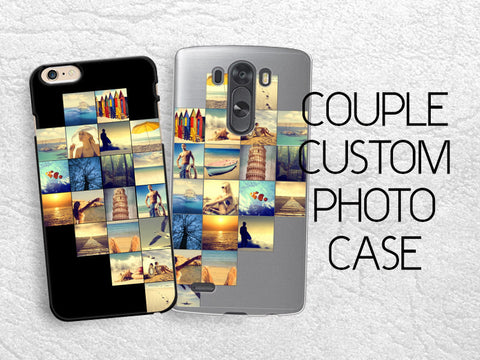 Couple case Custom Photo personalized phone case for iPhone, Sony z3 compact, LG g3 g2, HTC one m7 m8, Moto X Moto G custom image lover case