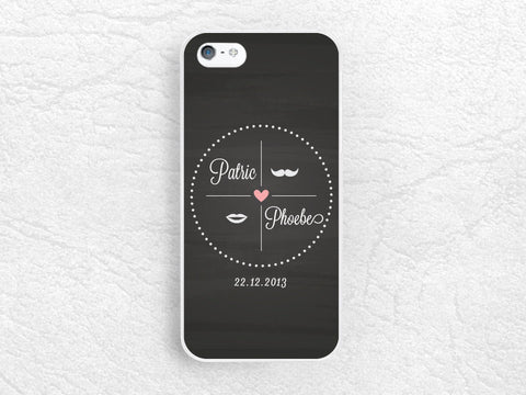 Valentine's day Couple phone case for iPhone 6, iPhone 5 5s 5c, Sony z1 z3 compact, LG g3 nexus 5, Moto X Moto G, HTC One m7, wedding gift