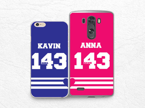 Set for two, Couple case Personalized phone case for iPhone 6, Sony z3 compact, LG g3 g2, HTC one m7 m8, Moto X Moto G, Valentines case