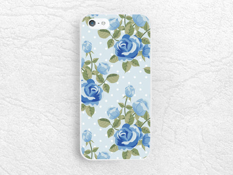 Vintage Blue floral phone case for iPhone 6 iPhone 5 5c, Sony z1 z2 z3 compact, LG g2 g3 nexus 5, HTC one m7 m8, Moto x Moto g, Nokia -P17