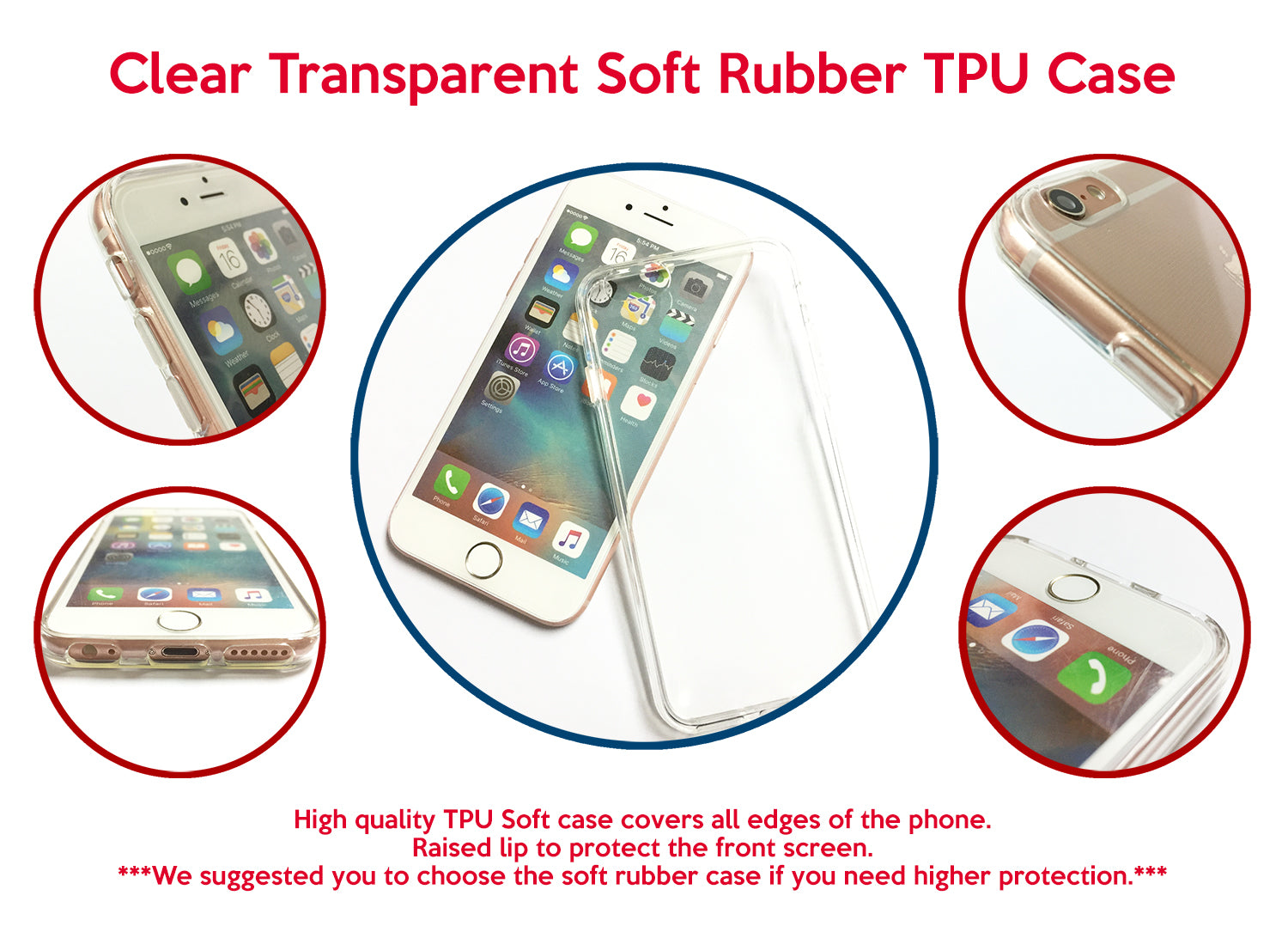 Christmas Snowflakes Clear transparent phone case for iPhone 6s ...