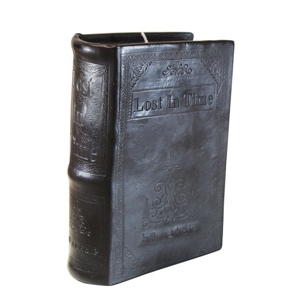 Leather Cover Book Candle