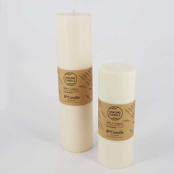 PILLAR CANDLE - SOY PILLAR CANDLE, 3×8""