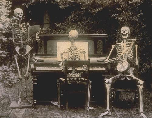 'Three skeletons at a piano' taken from The National Archives UK