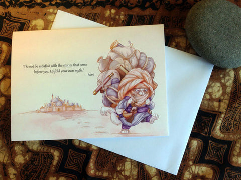 Rumi (TPC 0011): Illustrated Greeting Card - Ethos Books - 2