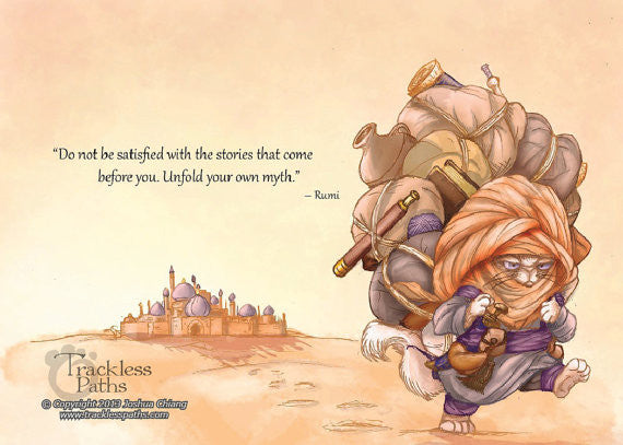 Rumi (TPC 0011): Illustrated Greeting Card - Ethos Books - 1