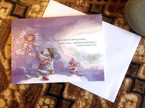 Australian Aborigine Proverb (TPC 0012): Illustrated Greeting Card - Ethos Books - 2