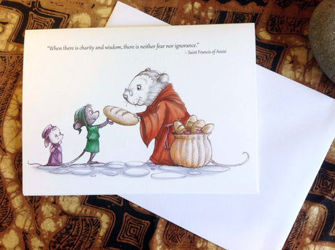 Saint Francis of Assisi (TPC 0018): Illustrated Greeting Card - Ethos Books - 2