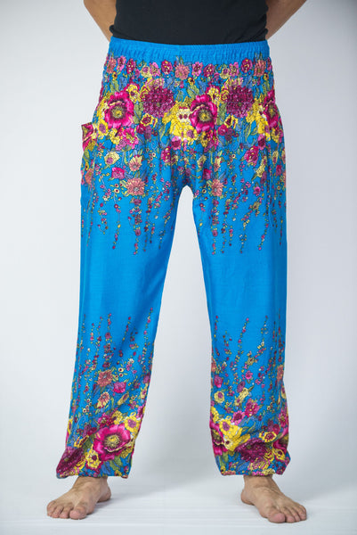 Simple Floral Harem Pants Rayon Pants Boho Strenchy Pants Elastic