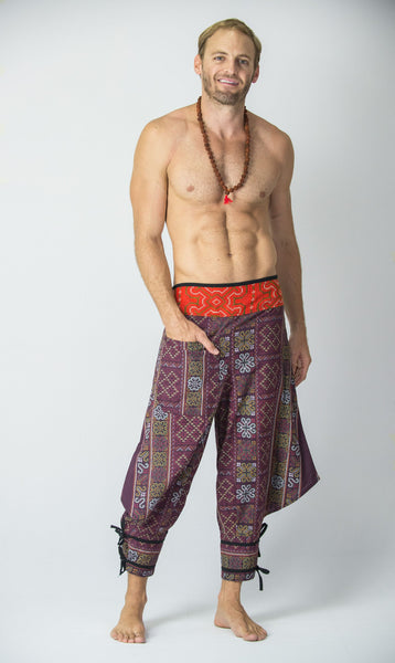 Clovers Thai Hill Tribe Fabric Men S Harem Pants With