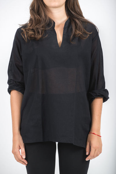 Womens Red Collared Shirt