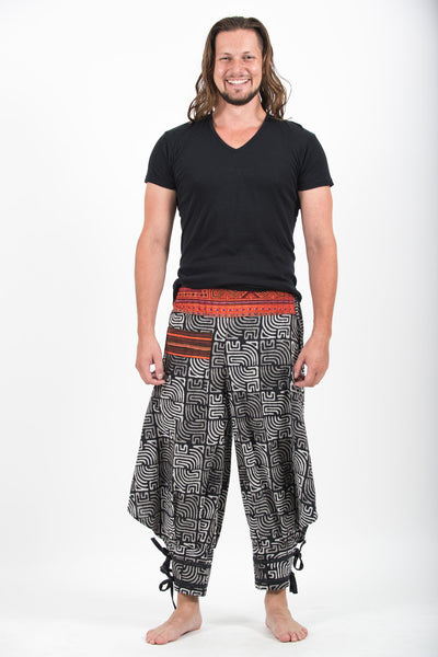 Maze Prints Thai Hill Tribe Fabric Men S Harem Pants With