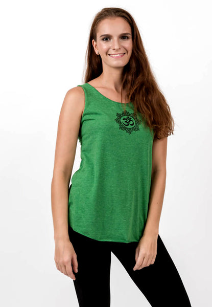 Loose Soft Vintage Style Women S Tank Tops Om Green
