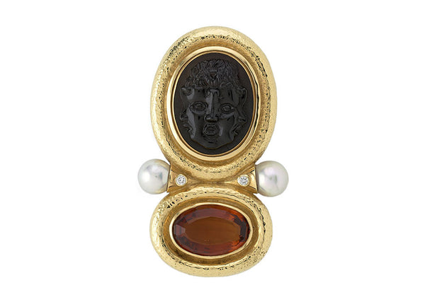 Black Tourmaline Arcadia Pin