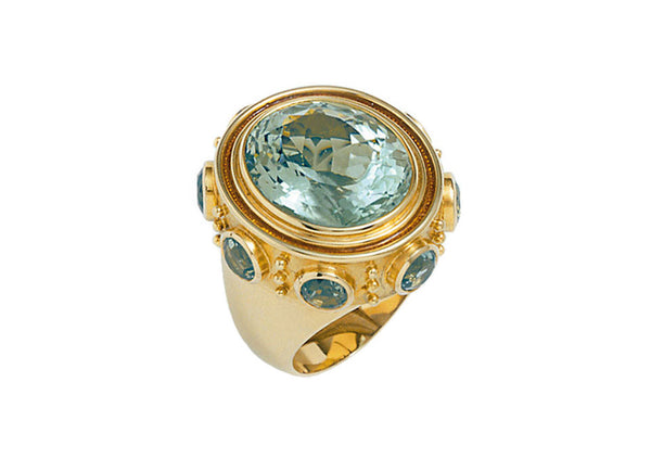 Aquamarine Charlemagne Ring