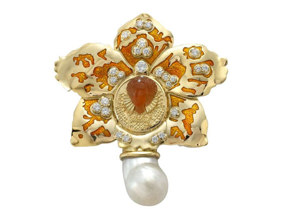 The Elizabethan Orchid Pin