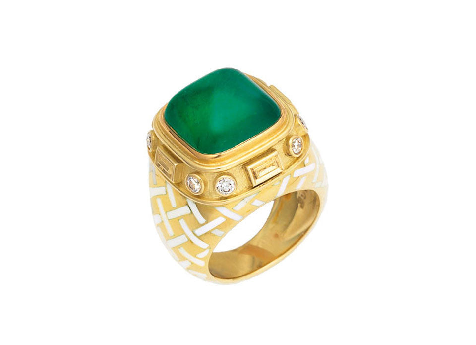 Emerald Charlemagne Ring