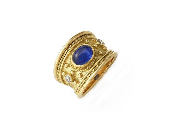 Sapphire Tapered Templar Ring