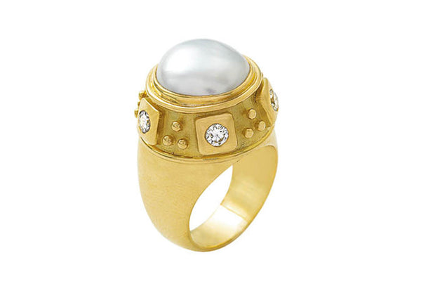 Pearl Charlemagne Ring