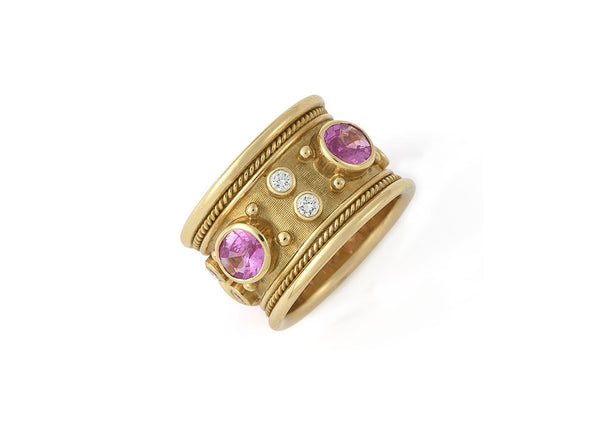 Pink Sapphire Templar Band Ring