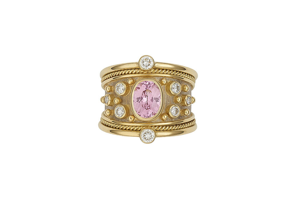 Pink Spinel Tapered Templar Ring