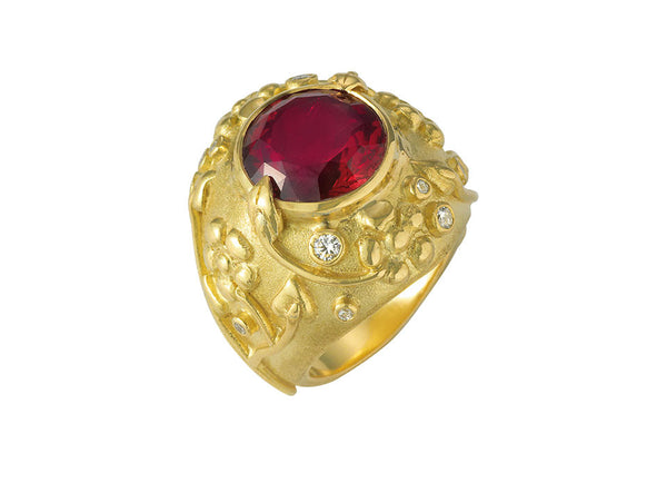 Red Tourmaline Ring