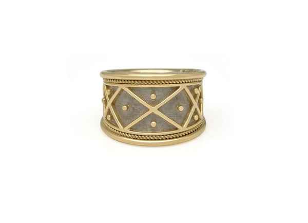 Trellis and Bead Tapered Templar Ring