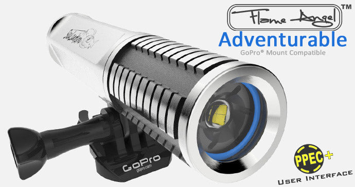 sealantern flame angel gopro video dive flashlight torch