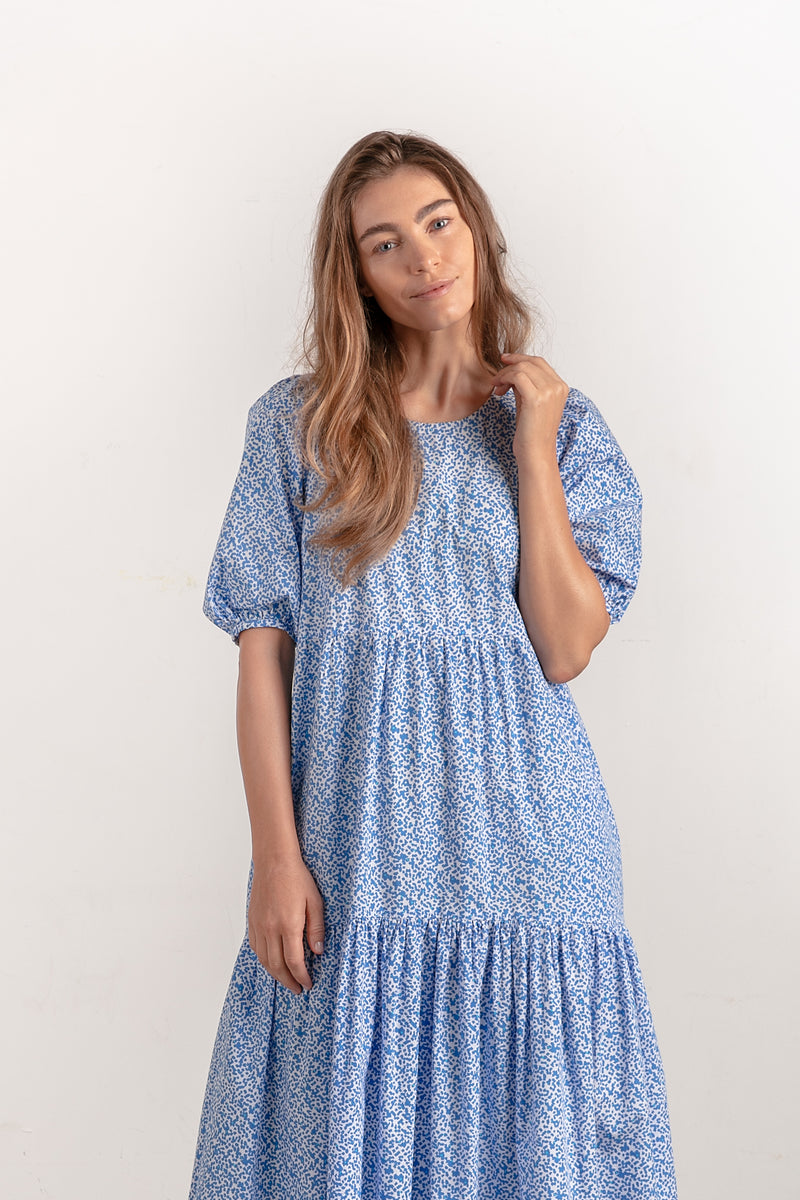 LOLA DRESS - MOROCCAN BLUE