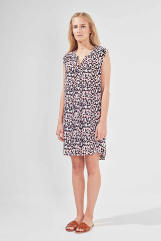 EMILIA DRESS - BLUSHING LEOPARD