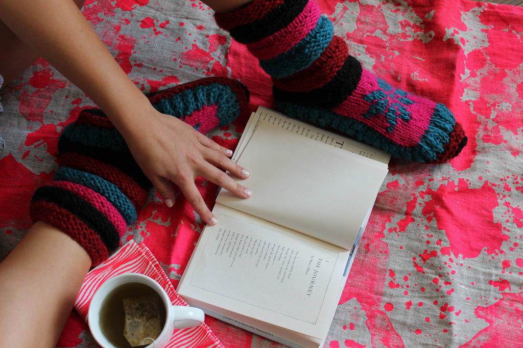 Cozy time with Tibetan Socks: Winter Reading List