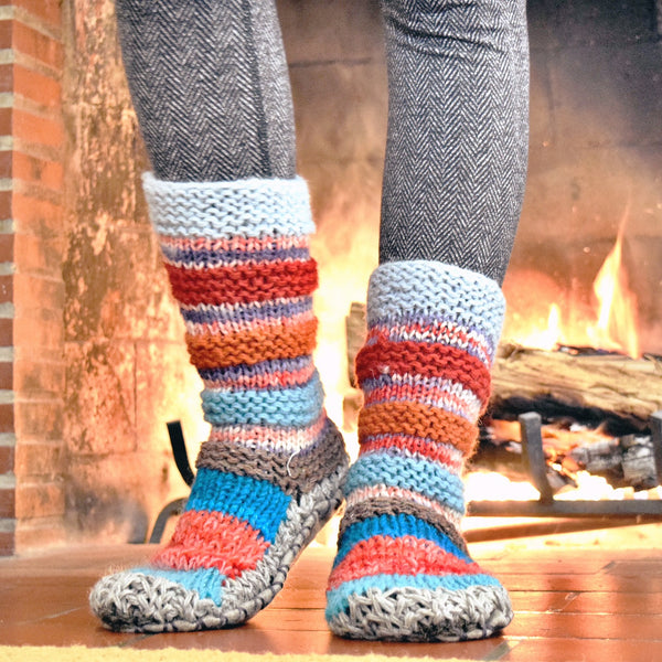 Warm Slipper Socks for Raynaud's and Diabetes