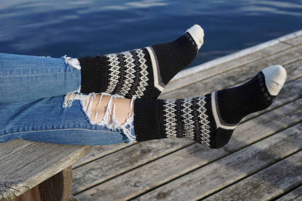 Hand Made Pure Merino Wool Socks by Tibetan Socks