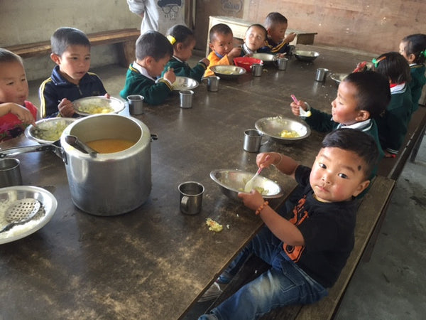Lama Paljor School Lunch Program Tibetan Socks Adrien Field
