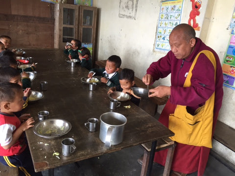 Lama Paljor Sikkim Lunch Program Charity Tibetan Socks