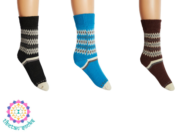 Tibetan Socks Merino Wool Crew Hiking Socks for Men and Women