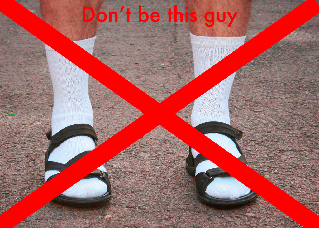 How to wear socks with sandals for men