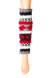Hand-Knit Wool Leg Warmers / Boot Toppers - Tibetan Socks