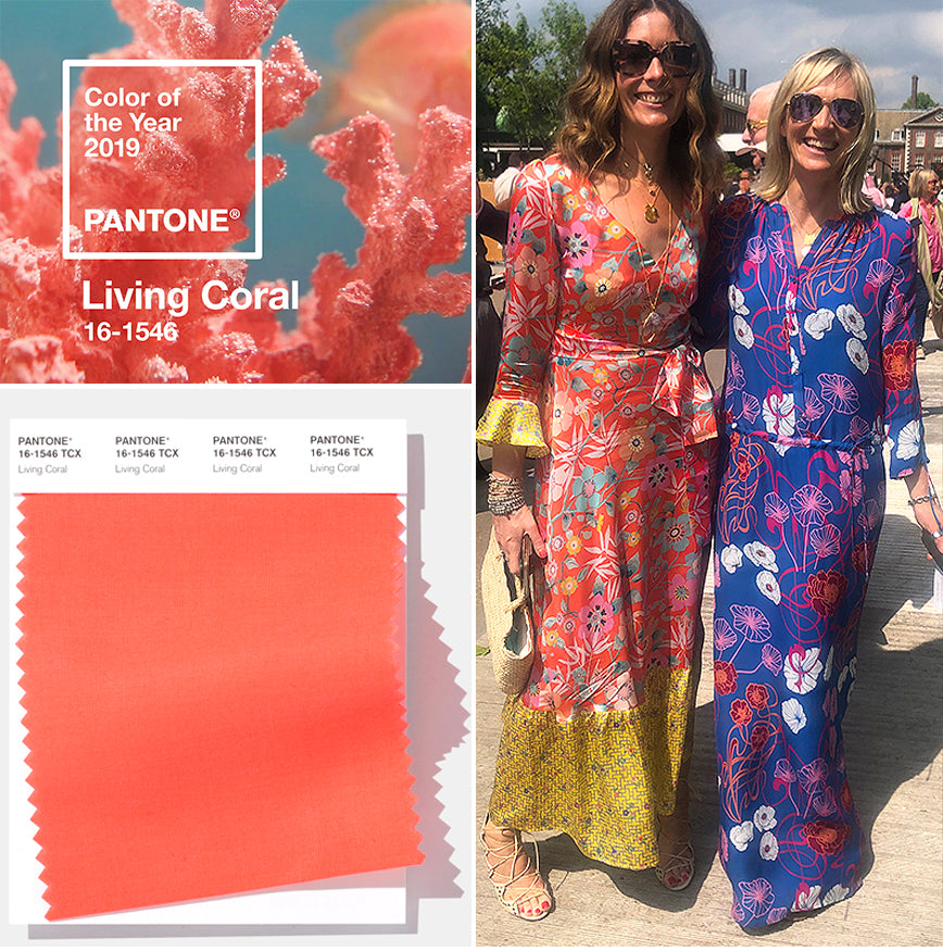 ridley-london-colour-blog-living-coral-pantone-2019-luxurious-statement-printed-floral-silk-maxi-dress
