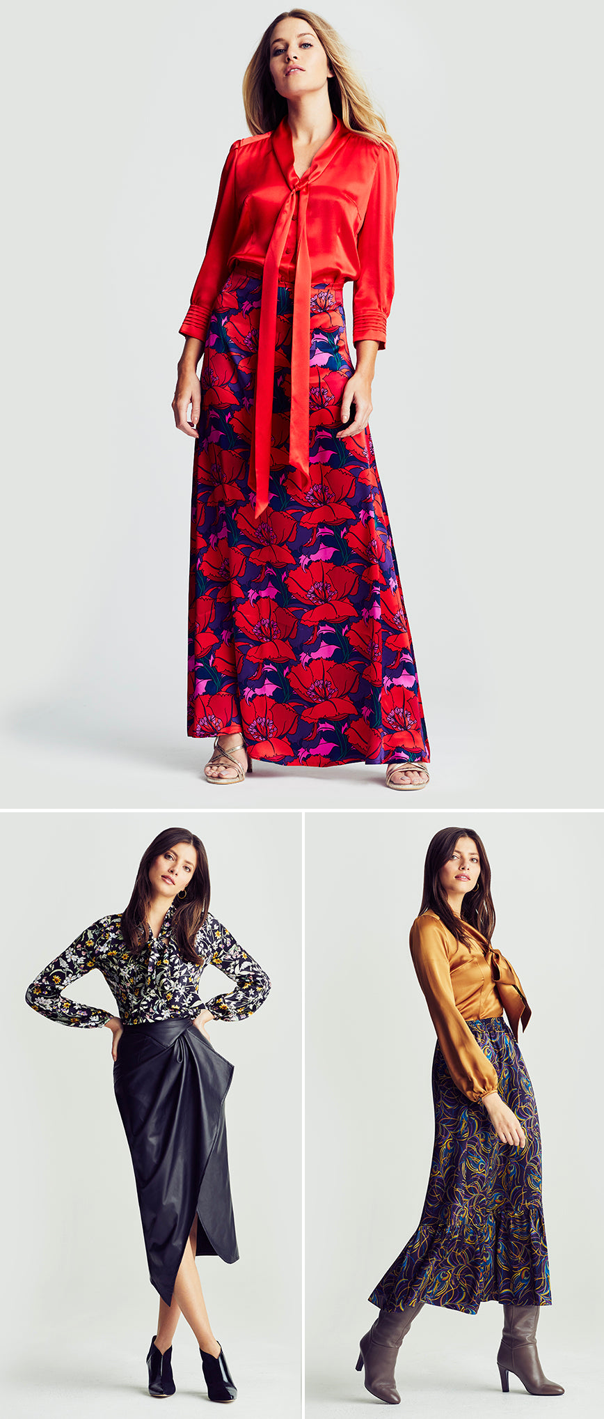 ridleylondon-printed-floral-silk-maxi-skirt-and-pussy-bow-blouse-christmas-party-fashion