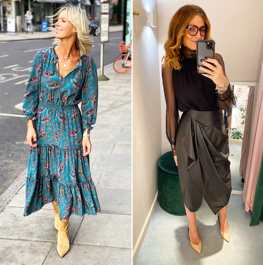 ridleylondon-winter-2019-@bricksandstitches-kat-farmer-@doesmybumlook40-printed-floral-silk-midi-dress-black-silk-blouse