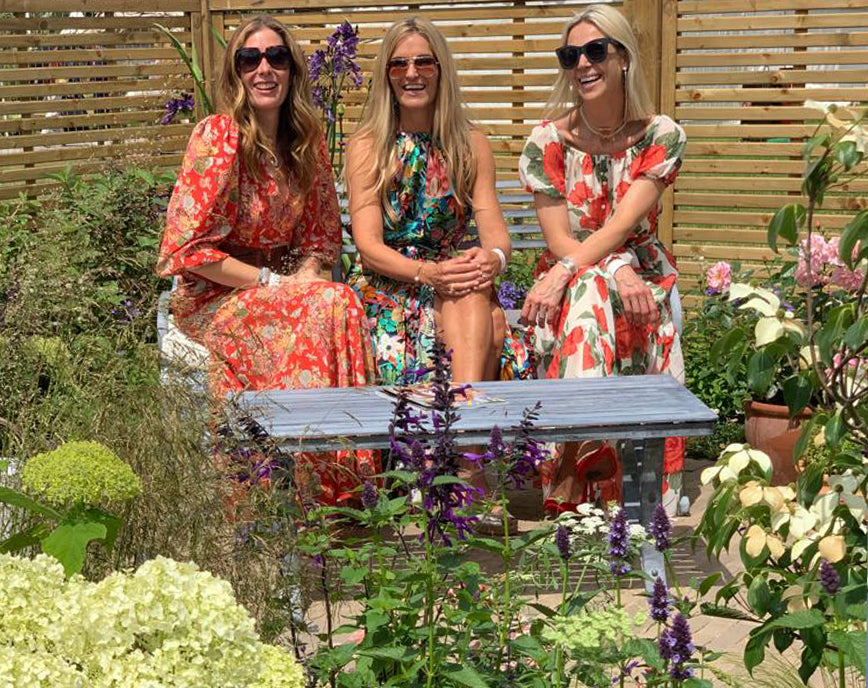 Ridley London blog Hampton Court Flower Show Instagram influencers in Ridley London floral Holiday dresses
