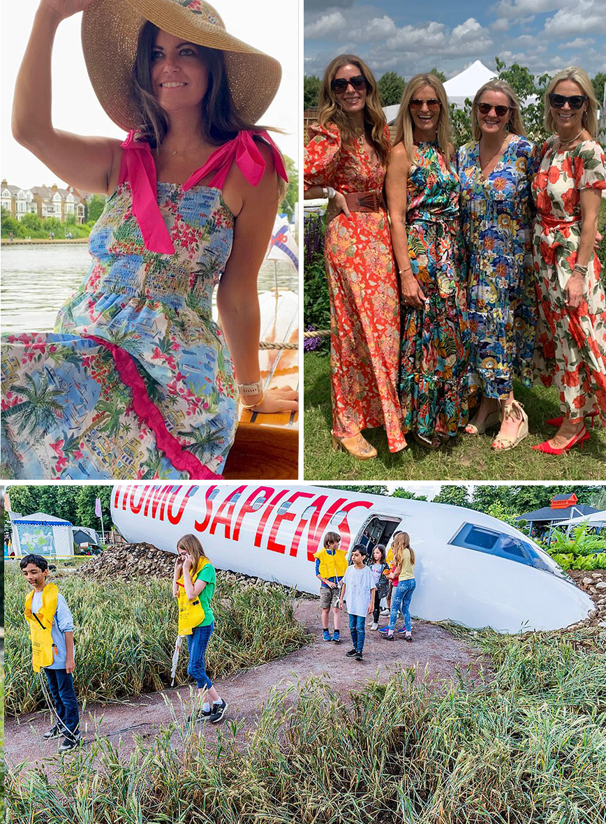 Ridley London blog Instagram influencers in Ridley London floral Holiday dresses.