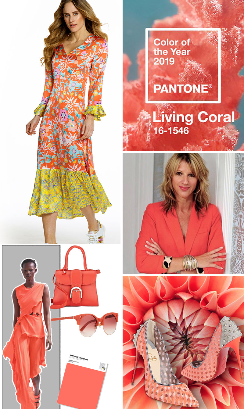 Ridley London- Pantone Living Coral Spring 2019