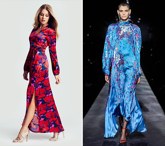 Ridley London- Autumn Winter 2019 Silk floral midi dress