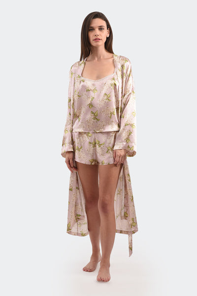 SILK SATIN DRESSING GOWN